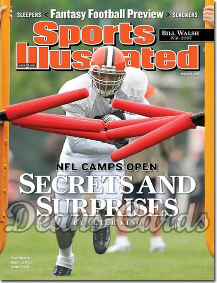 2007 Sports Illustrated   August 6  -  Jamal Lewis