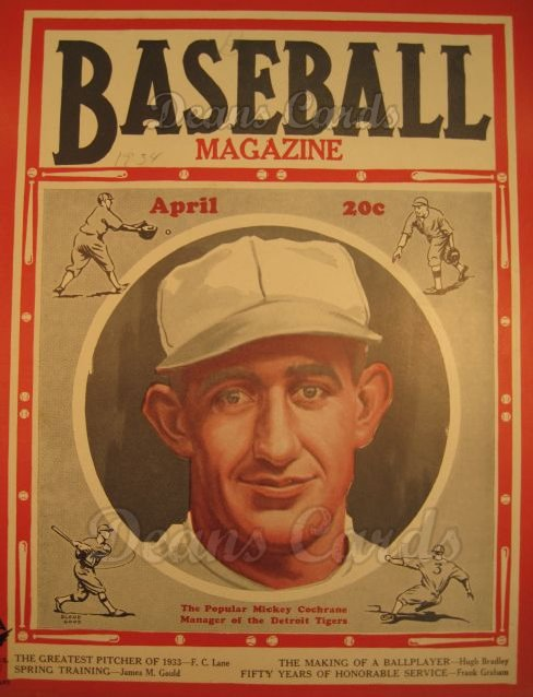 1934 Baseball Magazine    April