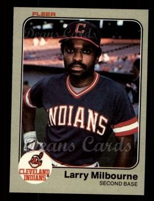 1983 Fleer #415  Larry Milbourne