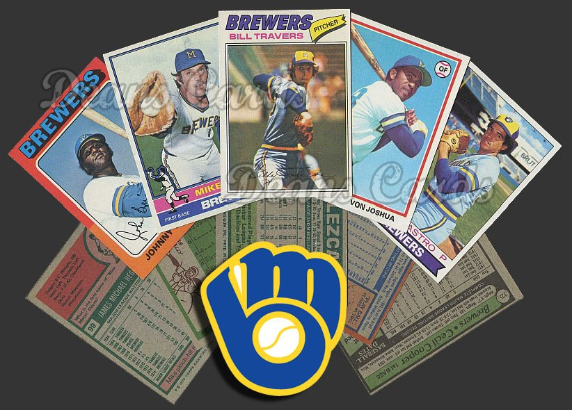 1975 Topps   -79  Milwaukee Brewers Team Starter Set / Lot - Md