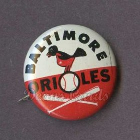 1961 Cranes Potato Chip Pin #1   Baltimore Orioles