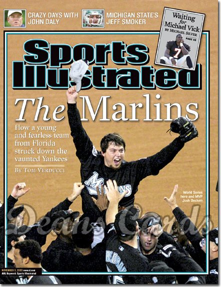 2003 Sports Illustrated   November 3  -  Josh Beckett (Florida Marlins)