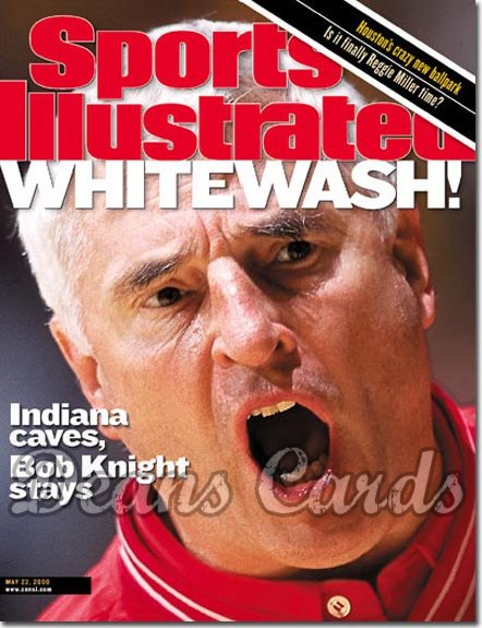 2000 Sports Illustrated   May 22  -  Bob Knight Indiana Hoosiers