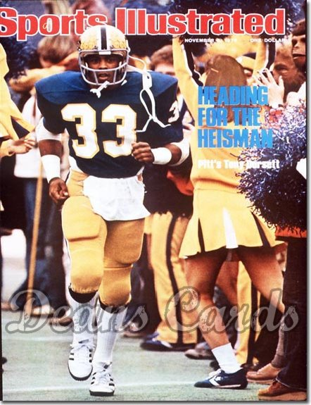 1976 Sports Illustrated - With Label   November 8  -  Tony Dorsett (Pittsburgh Panthers)