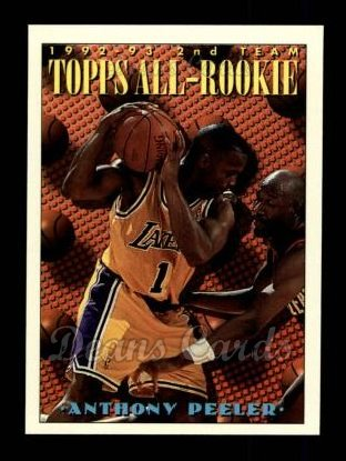 1993 Topps #176   -  Anthony Peeler All-Rookie Team