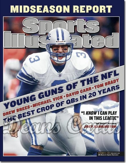 2002 Sports Illustrated - With Label   November 11  -  Joey Harrington Detroit Lions