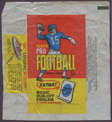 1965 Topps Football Wax Wrapper