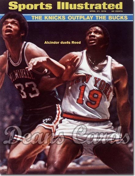 1970 Sports Illustrated - With Label   April 27  -  Lew Alcindor & Willis Reed (Bucks & Knicks)