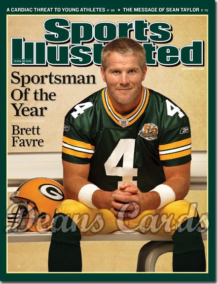 2007 Sports Illustrated - With Label   December 10  -  Brett Favre
