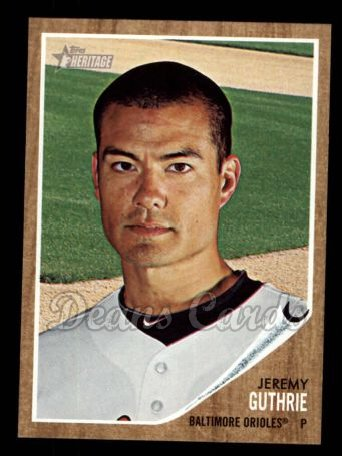 2011 Topps Heritage #221  Jeremy Guthrie