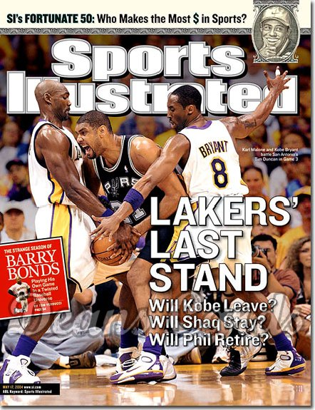 2004 Sports Illustrated   May 17  -  Kobe Bryant Tim Duncan Karl Malone