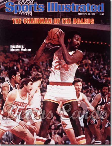 1979 Sports Illustrated - With Label   February 19  -  Moses Malone (Houston Rockets)