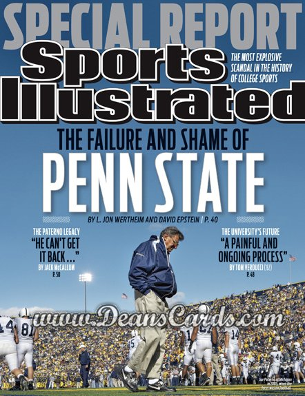2011 Sports Illustrated - With Label   November 21  -  Joe Paterno / Penn State / Special Report