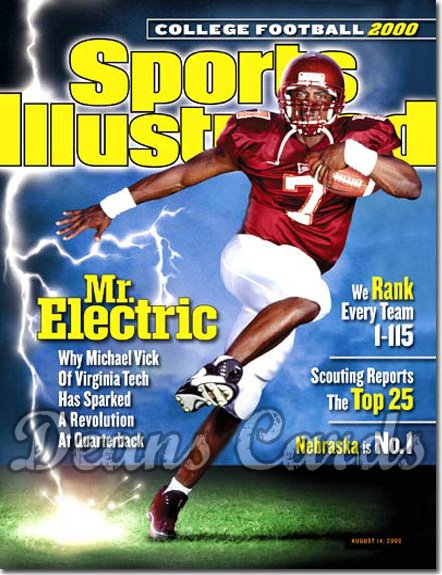 2000 Sports Illustrated - With Label   August 14  -  Michael Vick (Virginia Tech Hokies) College Football Issue