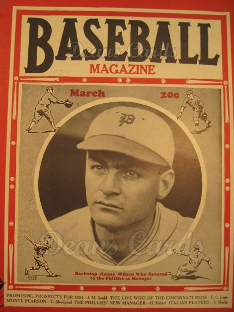 1934 Baseball Magazine    March