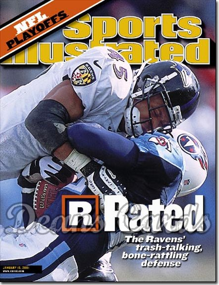 2001 Sports Illustrated - With Label   January 15  -  Corey Harris (Baltimore Ravens)