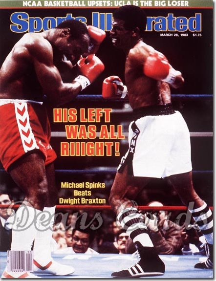 1983 Sports Illustrated - With Label   March 28  -  Michael Spinks/Dwight Braxton