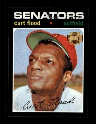 2001 Topps Archives #351   -  Curt Flood 71 Topps