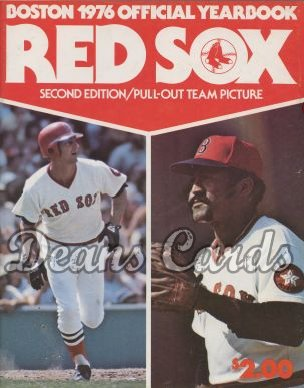 1976 Boston Red Sox Yearbook - Revised