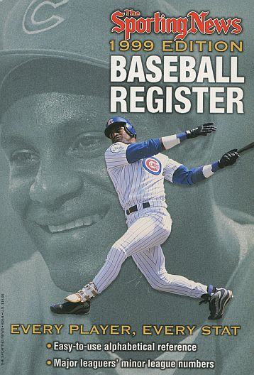 1999 Baseball Register   -  Sammy Sosa  Issue