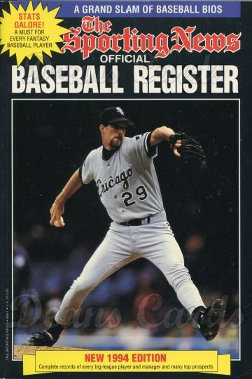 1994 Baseball Register   -  Jack McDowell  Issue