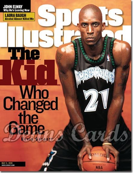1999 Sports Illustrated - With Label   May 3  -  Kevin Garnett (Minnesota Timberwolves)