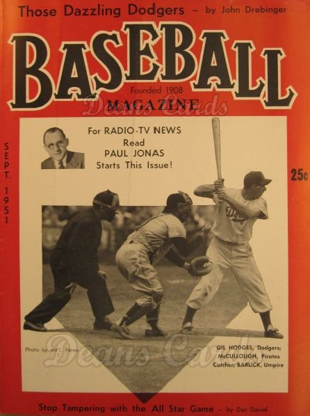 1951 Baseball Magazine    September