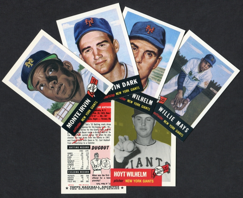 1953 Topps Archives     REPRINT New York Giants Team Set