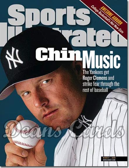 1999 Sports Illustrated - With Label   March 1  -  Roger Clemens NY Yankees