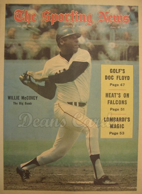 1969 The Sporting News   August 9  - Willie McCovey / All Star Game coverage