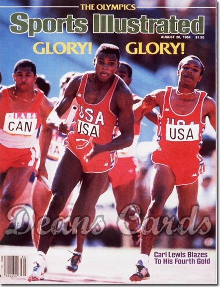 1984 Sports Illustrated - With Label   August 20  -  Carl Lewis (Olympics)
