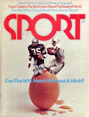 1974 Sport Magazine   -  Calvin Hill / Larry Csonka  August