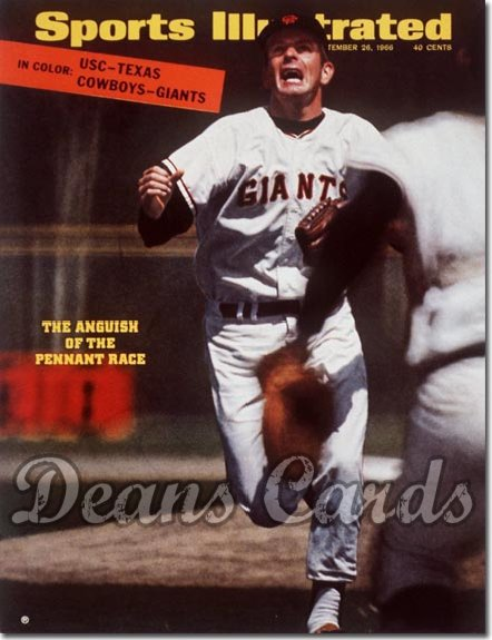 1966 Sports Illustrated - With Label   September 26  -  Gaylord Perry (San Francisco Giants)