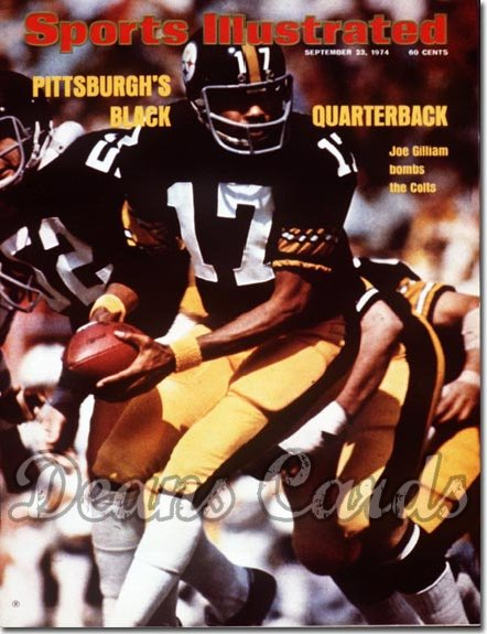 1974 Sports Illustrated - With Label   September 23  -  Joe Gilliam (Pittsburgh Steelers)