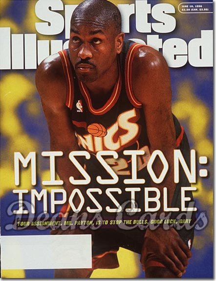 1996 Sports Illustrated - With Label   June 10  -  Gary Payton (Seattle Super Sonics)