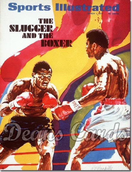 1971 Sports Illustrated - With Label   March 1  -  Muhammad Ali vs.Joe Frazier