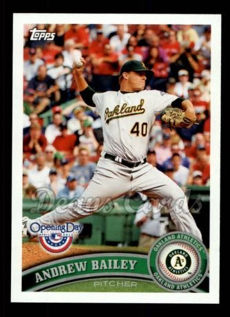 2011 Topps Opening Day #128  Andrew Bailey