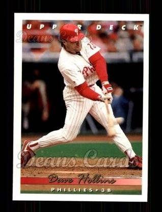 1993 Upper Deck #153  Dave Hollins