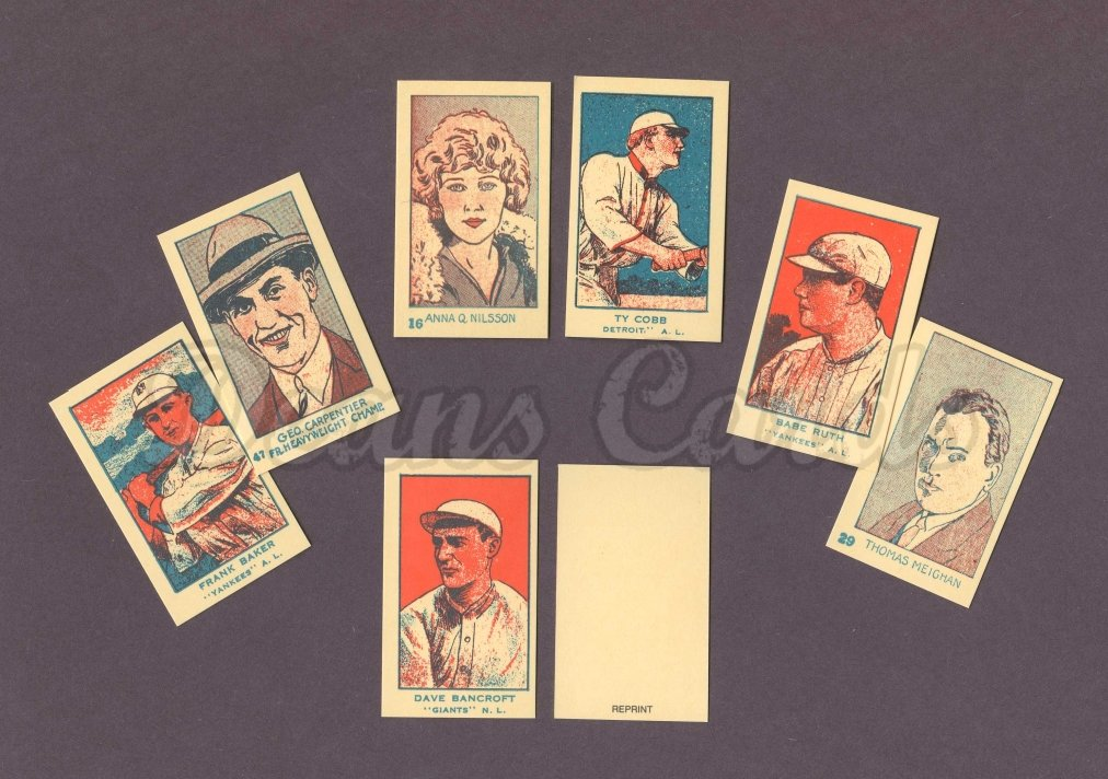 1920 Strip Card Reprint   's Strip Card Complete Reprint Set