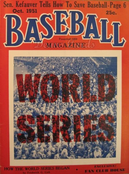 1951 Baseball Magazine    October