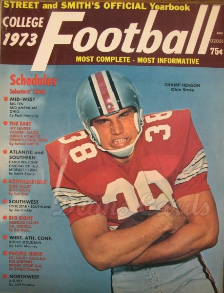 1973 Street & Smith's College Football   -  Champ Henson