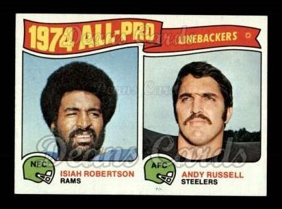 1975 Topps #219   -  Isiah Roberston / Andy Russell All-Pro Linebackers