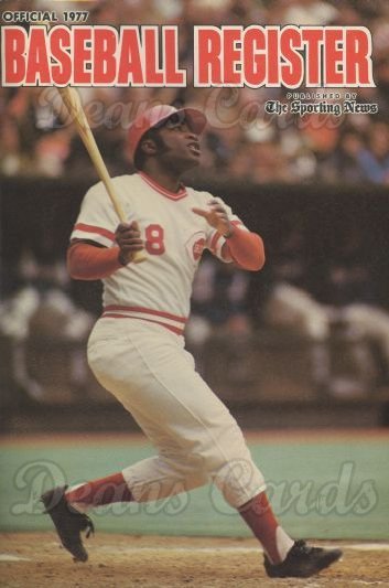 1977 Baseball Register   -  Joe Morgan  Issue