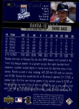 2000 Upper Deck #136  Joe Randa