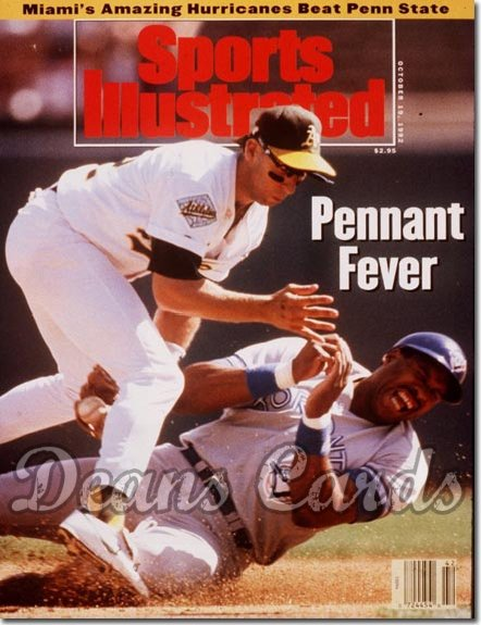 1992 Sports Illustrated - With Label   October 19  -  Dave Winfield (Toronto Blue Jays) & Walt Weiss (Oakland A's)