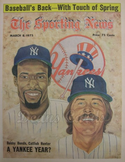 1975 The Sporting News   March 8  - Bobby Bonds / Catfish Hunter
