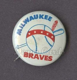 1964 Guys Potato Chip Pin #12   Milwaukee Braves