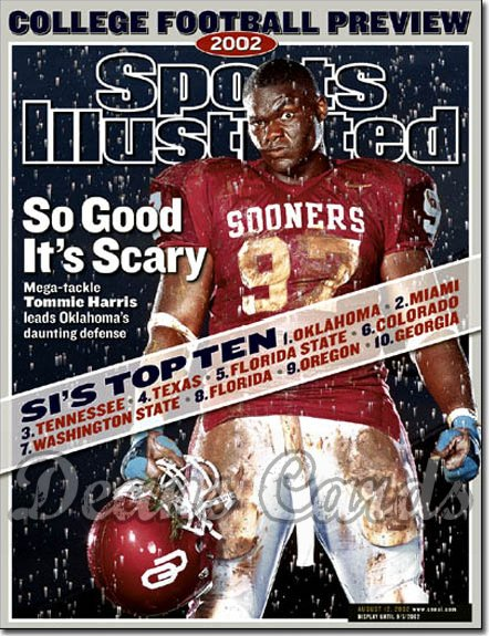 2002 Sports Illustrated   August 12  -  Tommie Harris Oklahoma Sooners College FB Preview
