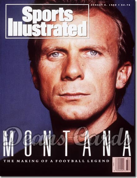 1990 Sports Illustrated - With Label   August 6  -  Joe Montana SF
