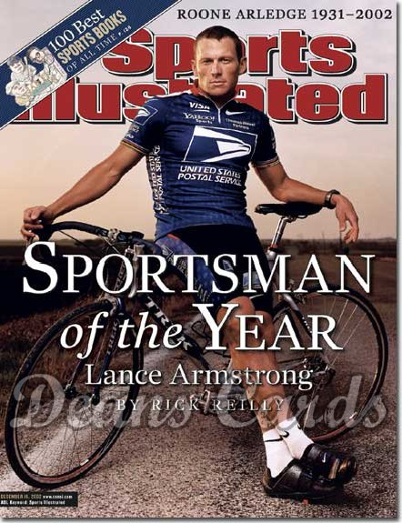 2002 Sports Illustrated - No Label   December 16  -  Lance Armstrong (Sportsman Of The Year)